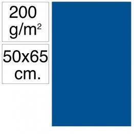 Cartulina Campus 50x65 cm 200 gr azul marino 25h
