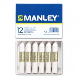 Ceras Manley blanco 12 unid