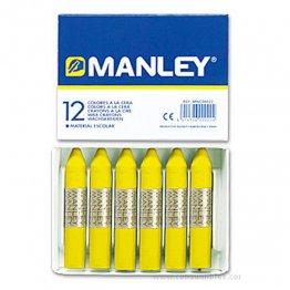 Ceras Manley amarillo permanente 12 unid
