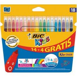 Rotulador Bic Kids Coleur 14+4 colores