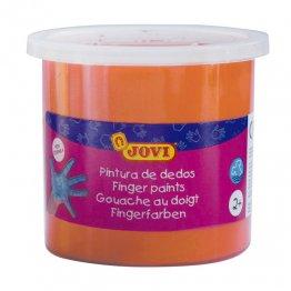 Pintura de dedos Jovi 125ml. naranja Caja 5 unid