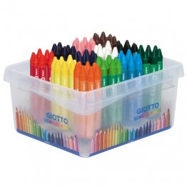 Ceras Giotto Maxi Pack Escolar 96 unid 12 colores