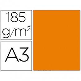 Cartulina Guarro Iris A3 naranja 50h